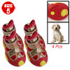 Gold Tone Phoenix Antislip Red Boots Shoes Size 5 for Puppy