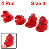 2 Pairs Red Mesh Vamp Sandals Shoes for Pet Dog Size 3