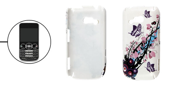 Butterfly Floral Pattern Plastic Back Case for LG GW300