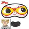 2 Pcs Elastic Band Smile Cartoon Face Travel Nylon Eye Mask Sleep...