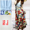 Ladies Colorful Floral Printed Drawstring Waist Maxi Tube Dress Sz XS