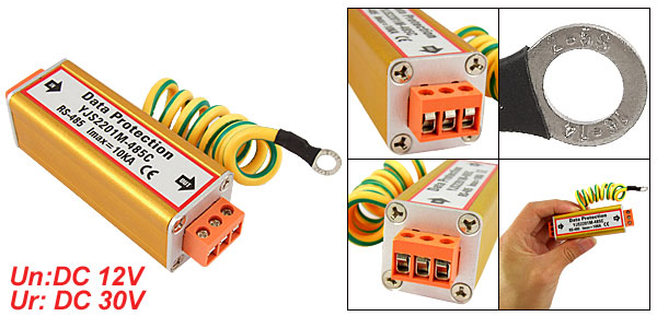 Control Signal Data Protection Lightning Thunder Surge Arrester DC 12V
