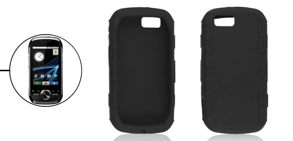 Washable Black Silicone Skin Soft Case Protector for Motorola i1