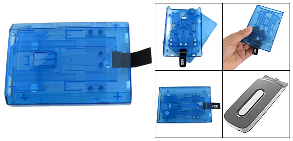 Hard Drive 250GB HDD Eexternal Blue Plastic Case for XBOX 360 Slim