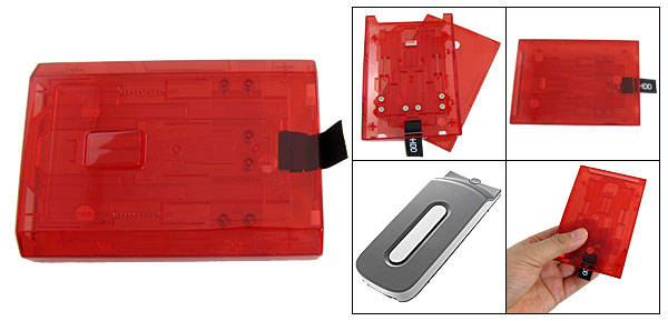 Hard Disk Drive HDD 250GB Replacement Red Plastic Case for XBOX 360 Slim