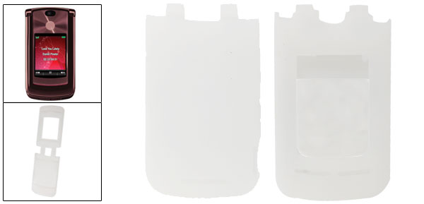 Protective White Soft Silicone Skin Cover for Motorola V9