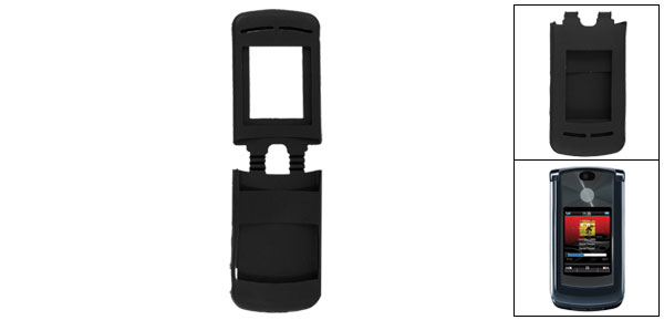 Protective Black Soft Silicone Skin Cover for Motorola V8