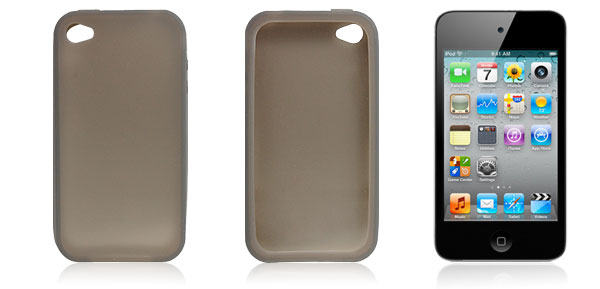 Smooth Gray Soft Plastic Protector for iPod Touch 4G