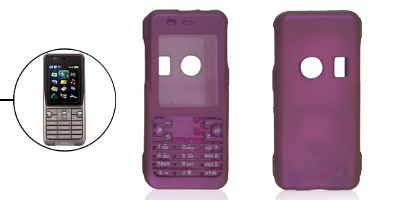 Plastic Glossy Purple Shell Cover for Snoy Ericsson K530