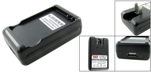 Compact USB Port AC 100-240V Battery Charger for HTC EVO 4G