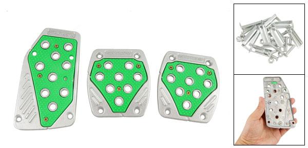 Green Nonslip Dot Gas Brake Clutch Pedal Cover for MT Car