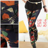 Ladies 5-Pocket Zip Fly Colorful Skinny Graffiti Jeans M