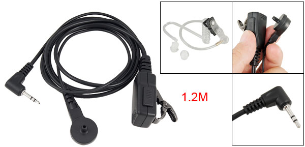 Two Way Radios Black Single Earphone w Acoustic Tube for Motorola T6200 T5428