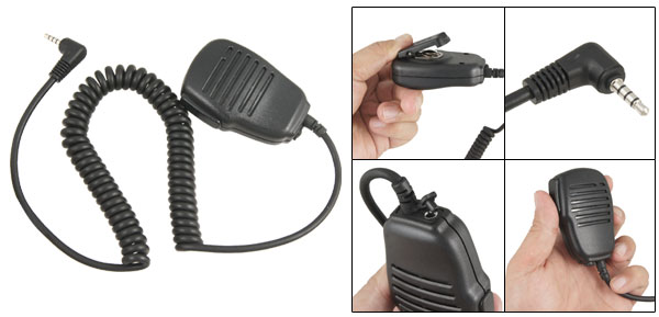 Blk Walkie Talkie Handheld Speaker Mic for Yaesu VX351