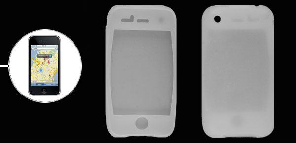 Clear White Silicon Protector Case for iPhone 3G 3GS