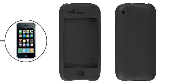 Black Silicon Protector Case for iPhone 3G 3GS