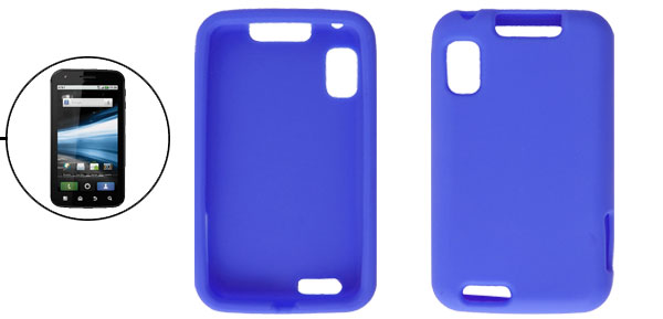 Soft Silicone Blue Cover Shell for Motorola Atrix 4G MB860