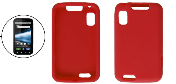 Soft Silicone Dark Red Cover Case for Motorola Atrix 4G MB860