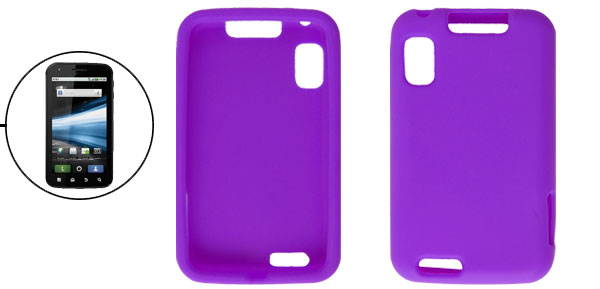 Purple Soft Silicone Protector Cover for Motorola Atrix 4G MB860