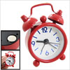 "1.3"" Dial Blue Arabic Numberals Red Mini Desk Alarm Clock"