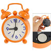 Round Dial Blue Arabic Numbers Display Orange Two Bell Alarm Cloc...