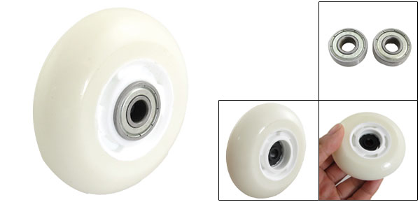 Ivory Replacement 72mm Inline Skate Wheel w 2 Bearings