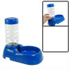 Travel Portable Blue Plastic Pet Bowl + Water Bottle Feeder