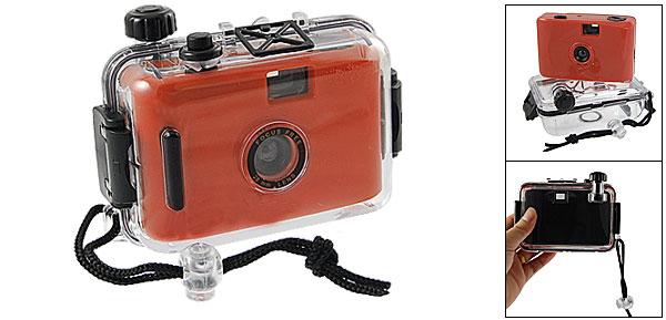 Kids Red Black Hard Plastic Clear Waterproof Casing Dummy Camera Toy