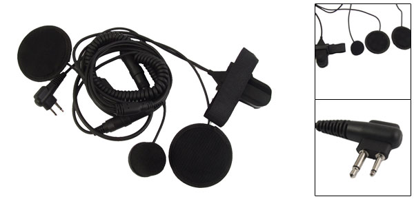 Double Ear PTT Button Motorcycle Helmet Headset for Motorola Radio