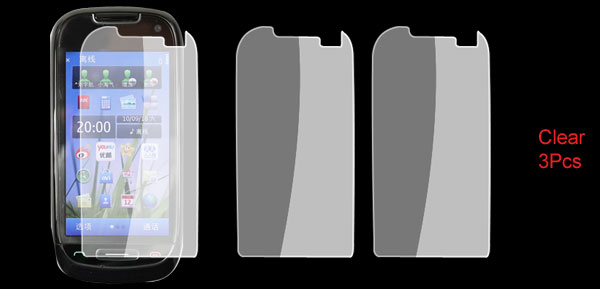 3 Pcs Clear Touch Screen Protective Guard for Nokia C7