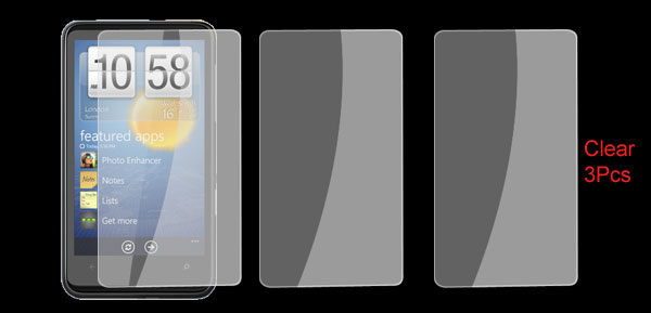 Plastic Clear Touch Screen Protector for HTC HD7 3 Pcs