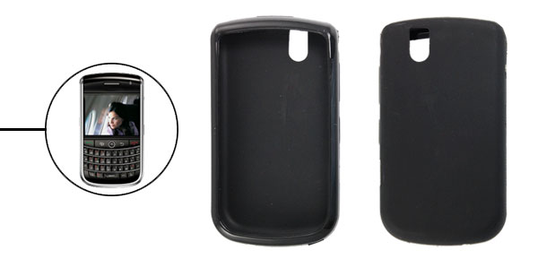 Smooth Soft Plastic Black Cover Case for Blackberry 9630