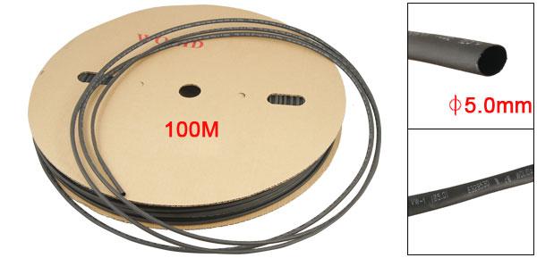 100M Length VW-1 5mm Diameter Heat Shrinking Tube Black