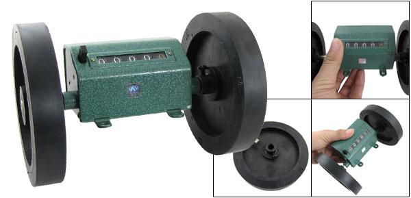 Length Measuring Counter w 2 Wheels 0-9999.9 Meters