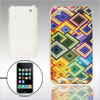 Colorful Rhombus IMD Printed Hard Plastic Case for iPhone 3G 3GS