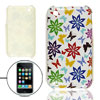 IMD Flower Butterfly Print Hard Plastic Case for iPhone 3G 3GS