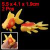 Aquarium Fish Tank Plastic Decor Faux Fantail Goldfish Orange Red...