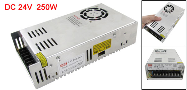 110/220V 24V 10A 250W Switching Power Supply Driver for LED Flexable Strip Light