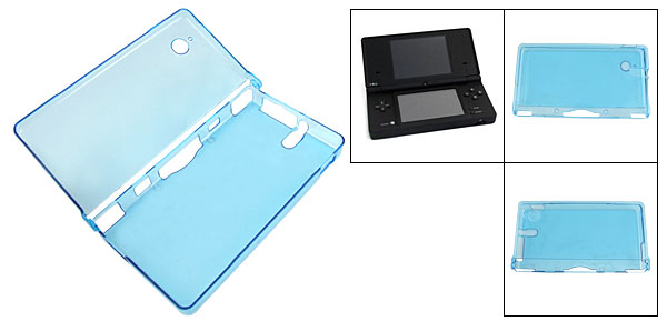 Clear Blue Hard Plastic Shield Case for Nintendo NDSi