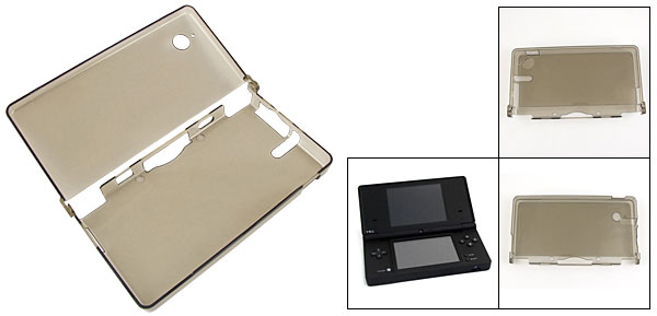 Clear Gray Hard Plastic Protective Cover for Nintendo NDSi