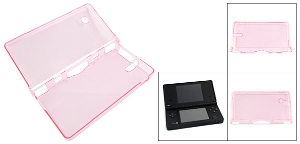 Clear Pink Hard Plastic Protector Case for Nintendo NDSi