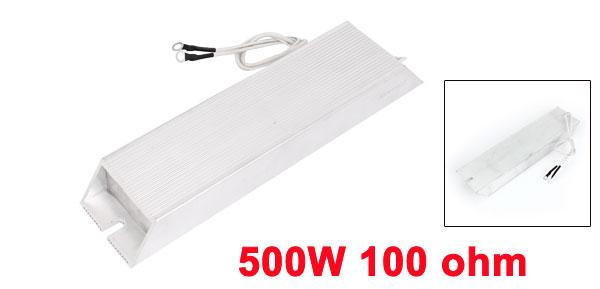 500W 100ohm 5% Aluminum Housed Wirewound Braking Resistor