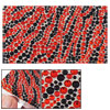 zebra pattern round plastic crystal cell...