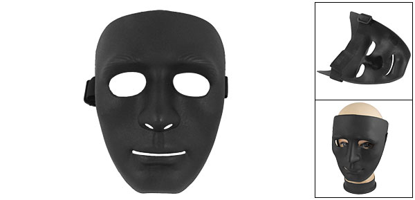 Outdoor Wargame Elastic Band Black Face Plastic Mask
