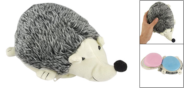 Zipper Closure Gray Hedgehogs Design 24 Pcs CD Storage Bag
