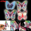 4 Pcs Colorful Plastic Butterfly Shape Fluorescent Decoration w S...