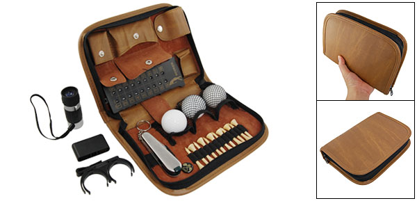 Golf Exercises Ball Wooden Tee Range Finder Scorer Brush Tool Set