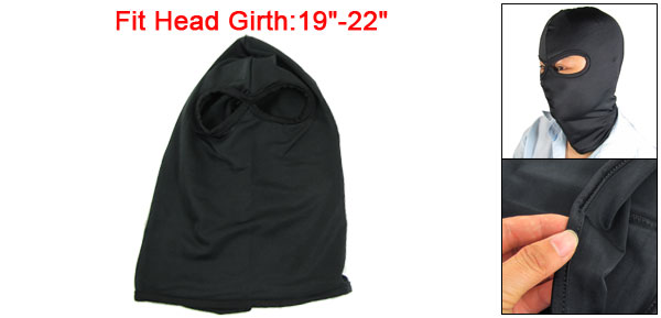 Man Tactical Elastic Black Two Hole Balaclava Hood for War Game