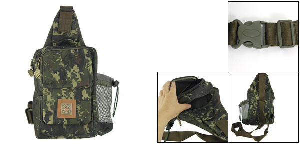Ladies Adjustable Strap 5 Compartments Zippered Camouflage Messager Bag