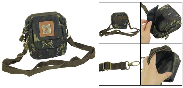 Ladies Removable Strap Zippered Camouflage Messager Bag